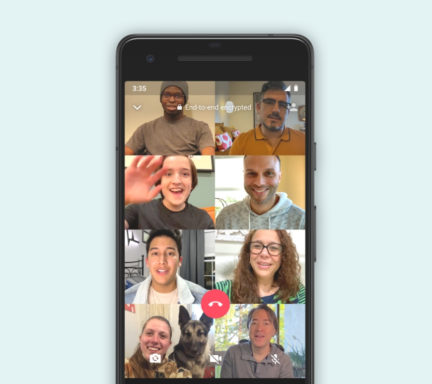 Whatsapp libera chamada de vídeo para até 8 pessoas